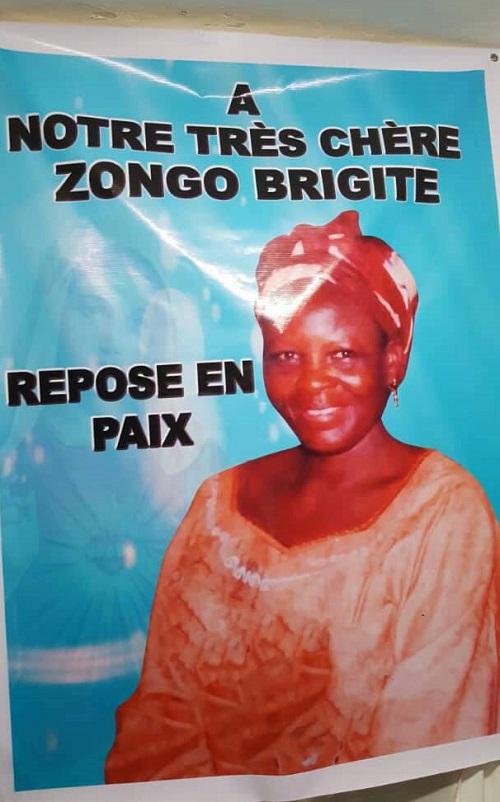 Décès de Brigitte Zongo: Remerciement