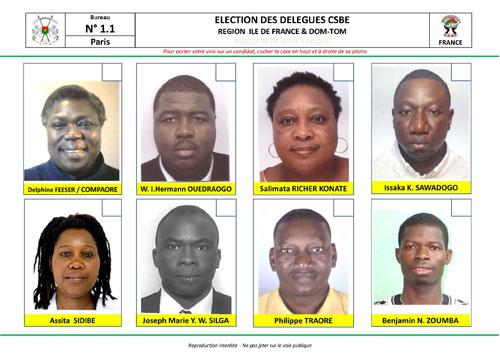 Conseil Supérieur des Burkinabè de l'Etranger (CSBE): Les délégués des Burkinabè de France sont connus