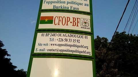 Situation nationale: Selon l'opposition, la seule chose qui préoccupe le président du Faso, c'est son prochain mandat