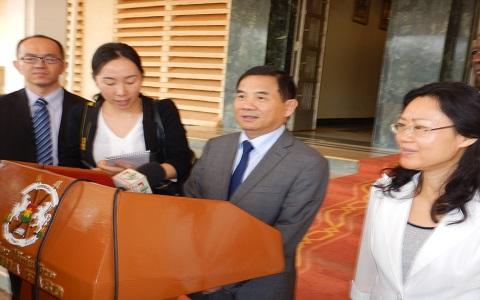 Coopération Chine-Burkina: L'ambassadeur Tang Weibin reçu par Paul KabaThiéba