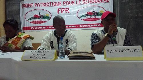 Conférence publique du FPR à Koudougou:  ''Le Burkina ne pourrait se développer sans changement de mentalité '' (Dr Aristide Ouédraogo, président du parti)