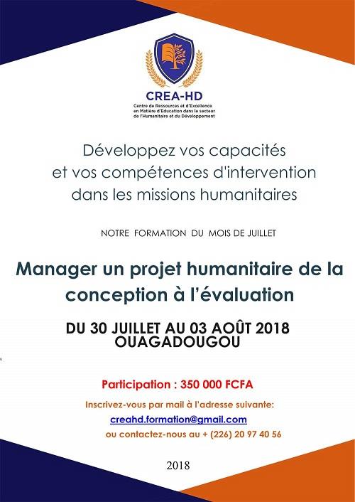 CREA-HD: Développez vos capacités et vos compétences d'intervention dans les missions humanitaires