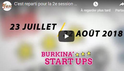C'est reparti pour la 2e session de l'édition 2018 du programme BURKINA'START UPS