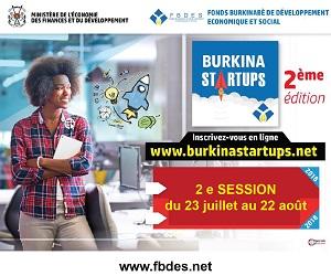 2ème session du programme Burkina STARTUPS: Du 23 juillet au 22 Août 2018