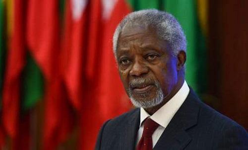 Kofi Annan est décédé  à l'âge de 80 ans