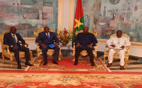 Présidence du Faso: la nouvelle équipe du Conseil supérieur de la communication chez Roch Kaboré