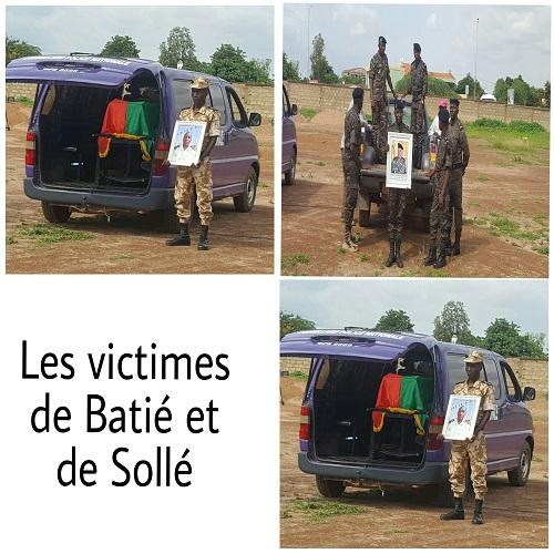 Attaques de Batié et Sollé: Jean De Dieu Bado et Sandofini Aristide Bonzi reposent désormais au cimetière municipal de Gounghin