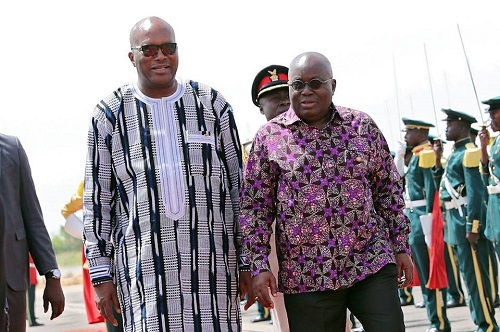 Coopération: Le Président du Faso en visite d'amitié et de travail au Ghana les 17 et 18 septembre 2018