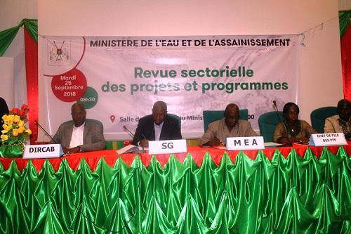 Ministère  de l'Eau et de l'Assainissement: L'exécution des projets et programmes de 2017 passée au peigne fin