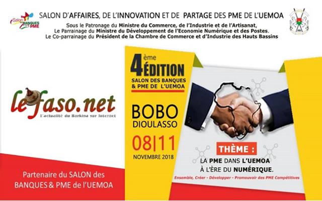 4e édition du salon des banques et PME de l'UEMOA: Du 8 au 11 novembre 2018 à Bobo Dioulasso