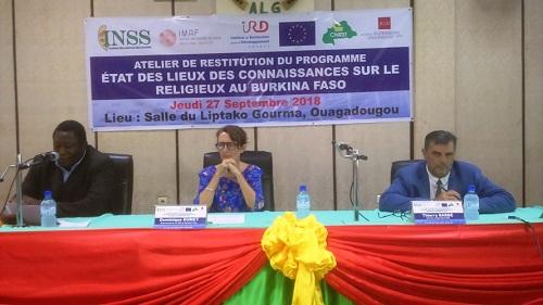 Atelier de restitution du programme «État des lieux des connaissances sur le religieux au Burkina Faso»