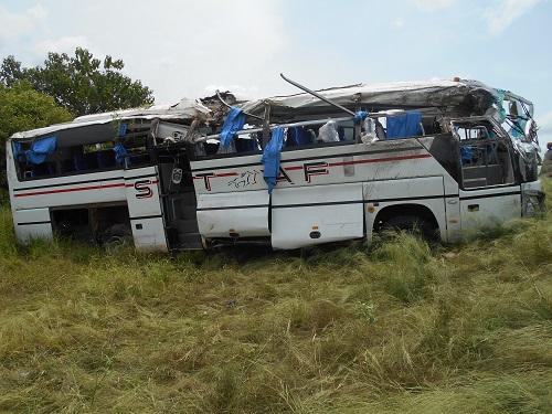 Axe Gaoua-Ouaga: Un accident de circulation fait un mort et de nombreux blessés