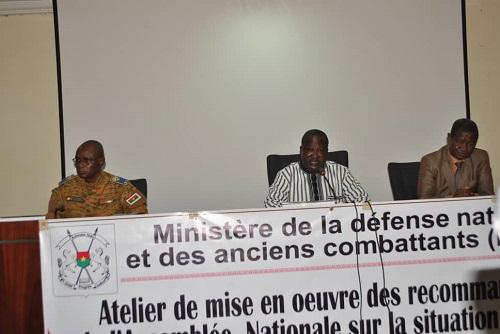 Sécurité au Burkina: Le ministère de la Défense veut mettre en œuvre les recommandations de l'Assemblée nationale