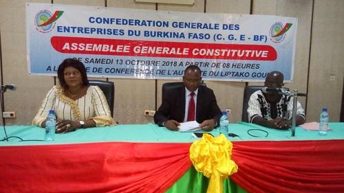 Economie: Les acteurs se mobilisent autour de la Confédération générale des entreprises du Burkina