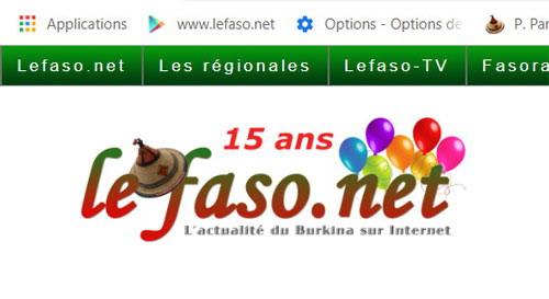 19 octobre 2018: Lefaso.net  a 15 ans