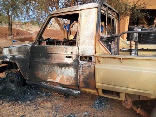 Attaque de la gendarmerie de Djibo: D'importants dégats matériels enregistrés et des presumes terroristes évadés