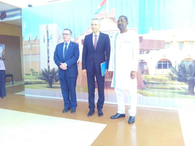 Assemblée nationale: Alassane Bala Sakandé parle cohabitation religieuse avec un envoyé spécial de l'Union européenne