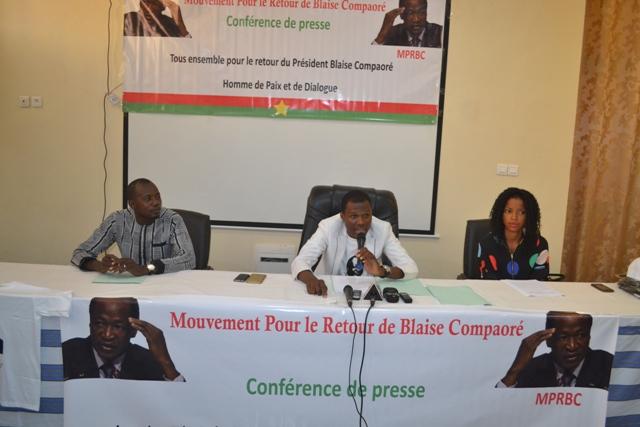 Situation politique nationale: le «Mouvement pour le retour de Blaise Compaoré» donne de la voix