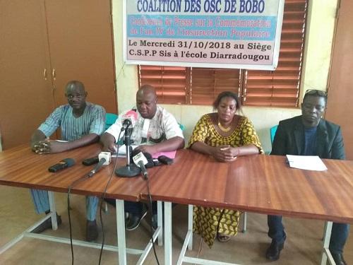 An 4 de l'insurrection: Une coalition d'OSC de Bobo rend hommage aux martyrs
