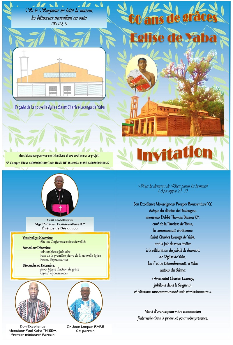 La chapelle Saint Charles Lwanga de Yaba organise ses 60 ans de grâces