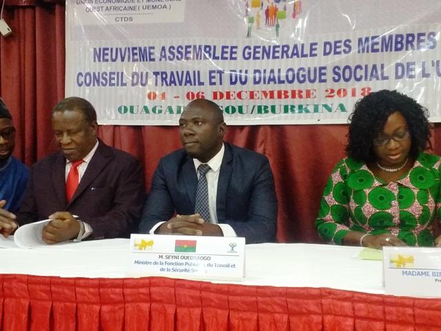 UEMOA: Le Conseil du travail et du dialogue social examine l'égalité en milieu professionnel