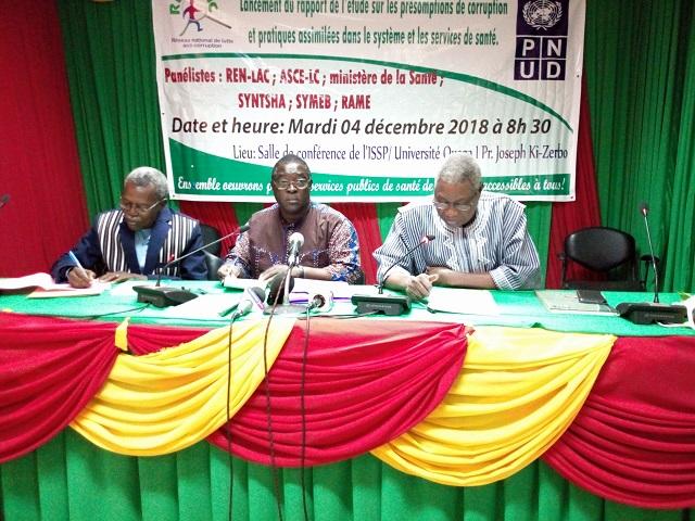 Corruption dans le secteur de la santé au Burkina: Le REN-LAC publie une étude sur le phénomène