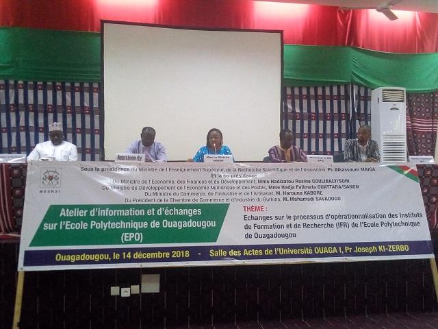 Ecole polytechnique de Ouagadougou (EPO): Des réflexions pour son opérationnalisation