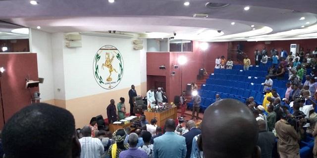Assemblée nationale: Discours du président  Alassane Bala Sakandé à l'ouverture de la session spéciale