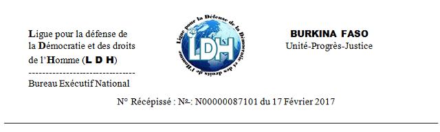 Drame de Yirgou: La Ligue pour la défense de la démocratie et les droits de l'Homme (LDH) invite le gouvernement à trouver un abri pour les populations sinistrées