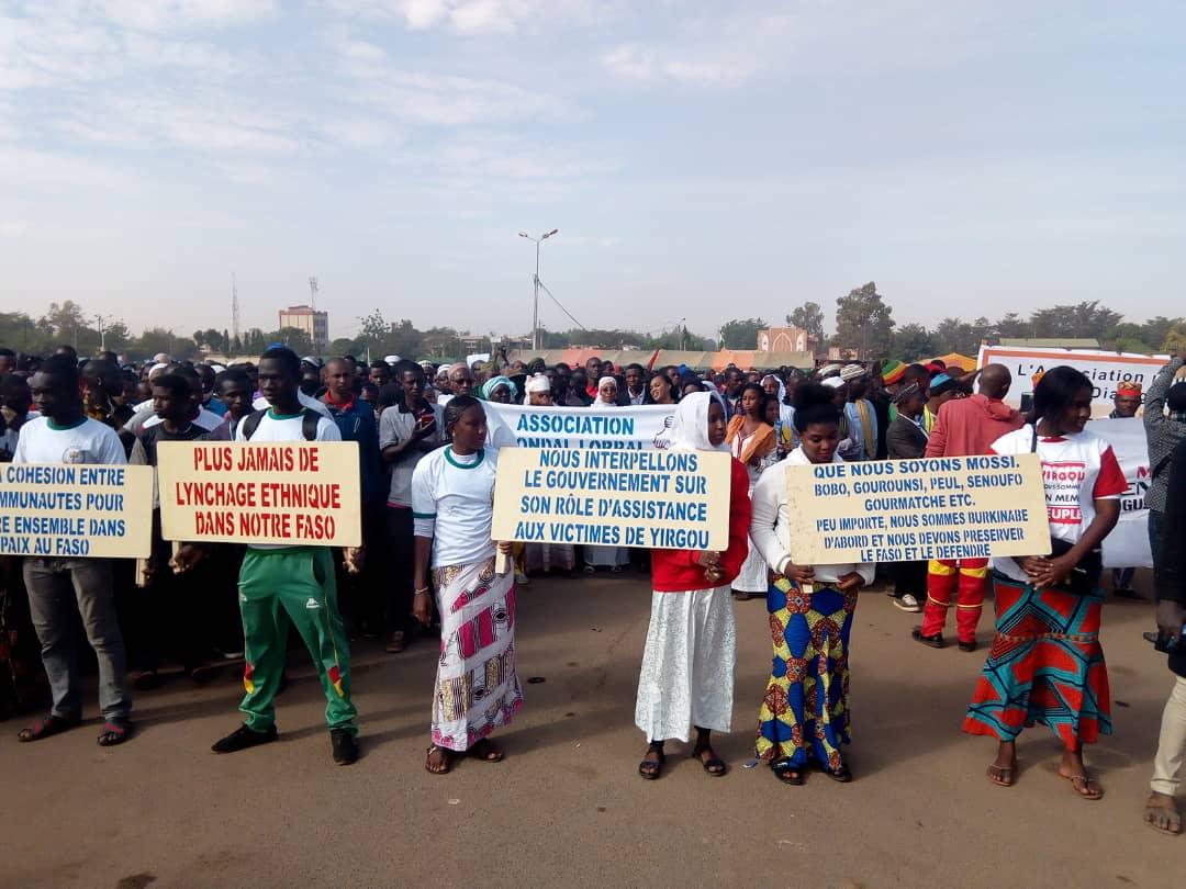 Violences à Yirgou: Une marche silencieuse à Ouagadougou pour dire non à la stigmatisation ethnique