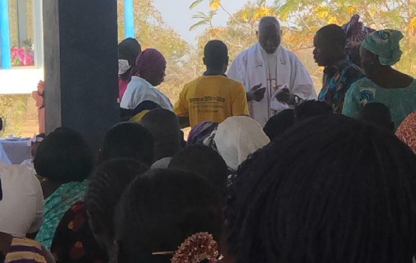 Donsin: L'abbé Blaise Bicaba prêche l'humilité des Chrétiens