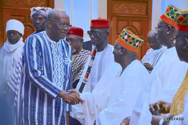Rencontre du président du Faso avec les hautes autorités coutumières: les dépositaires de la tradition souhaitent la paix sociale au Burkina Faso