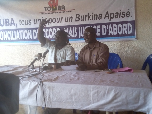 Situation nationale : L'association TOUBA invite les Burkinabè à savoir garder raison