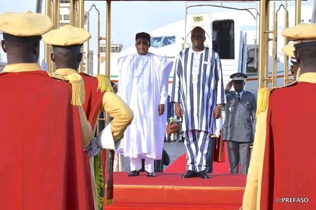 Coopération: Les chefs d'Etats du Niger, du Mali et de la Mauritanie présents à Ouagadougou pour le Ve Sommet du G5 Sahel