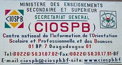 CIOSPB: Les demandes d'attestations de bourse et d'attestations de non boursier doivent être déposées au moins deux (02) semaines avant la date souhaitée pour l'obtention du document
