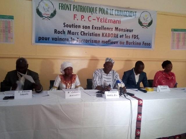 Terrorisme au Burkina et débat sur le CFA: Les coups de gueule du  Front patriotique pour le changement
