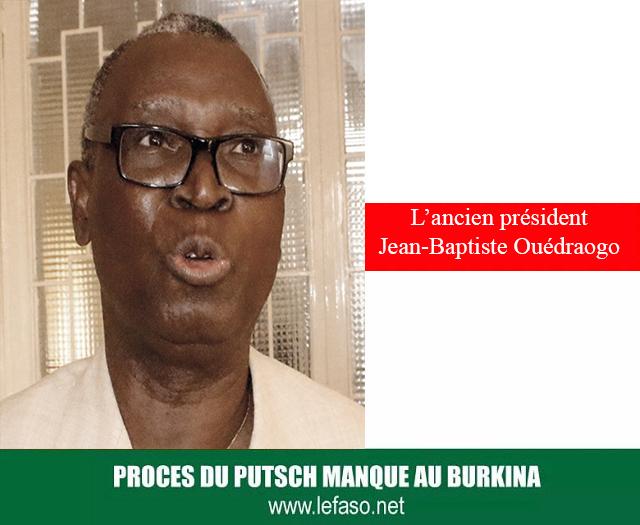 Procès du putsch du CND: «Nous étions dans la gueule du loup», raconte l'ancien président Jean-Baptiste Ouédraogo