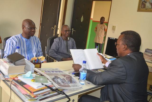 Vie de la rédaction: Les Burkinabè de l'extérieur au centre des échanges entre le ministre Paul Robert Tiendrébéogo et Lefaso.net