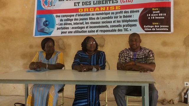 Education numérique: Les jeunes filles du collège de Loumbila sensibilisées à la protection des données personnelles