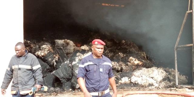 Incendie à CIPAM Bobo: Des dégâts matériels chiffrés à plus d'un milliard de FCFA