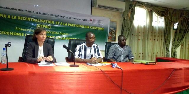 Décentralisation et participation citoyenne: Le DEPAC 2 pour renforcer les capacités de 30 collectivités territoriales