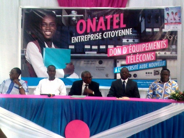 Université Aube nouvelle: L'ONATEL offre du matériel pour la formation des étudiants en télécommunications