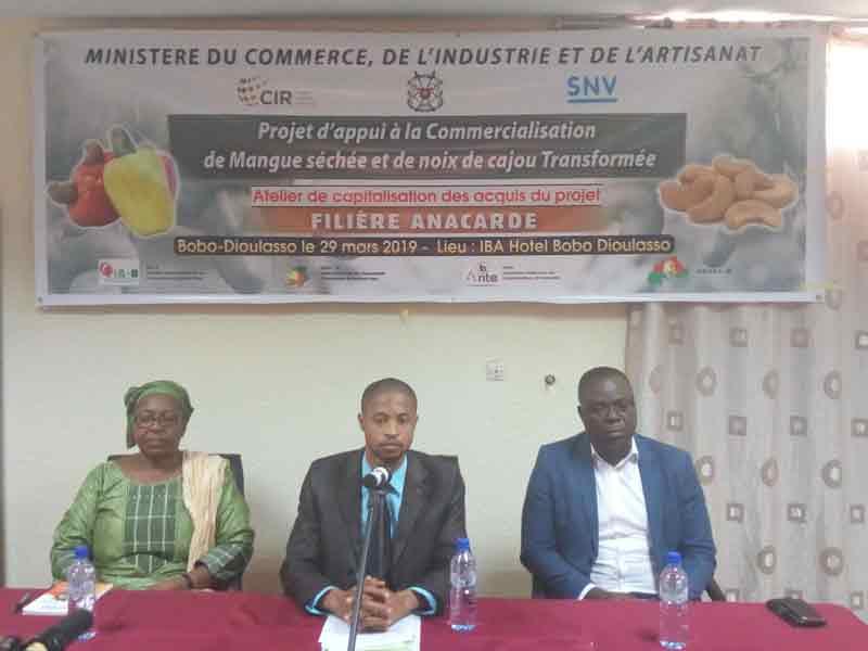 Projet d'appui à la commercialisation de l'anacarde: des acteurs de la filière s'accordent sur les avancées