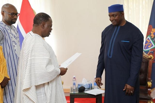 Burkina Faso -Gambie: L'ambassadeur Jacob Ouédraogo présente ses  lettres de créance au président Adama Barrow