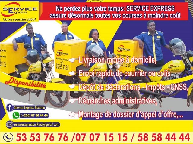 Burkinabès résidents, compatriotes de la Côte d'Ivoire, d'Italie, des Etats unis et partout ailleurs, à l'occasion de la fête de pâques, faites des cadeaux à vos parents et amis à Ouaga, Bobo et Koudougou à travers Service Express.