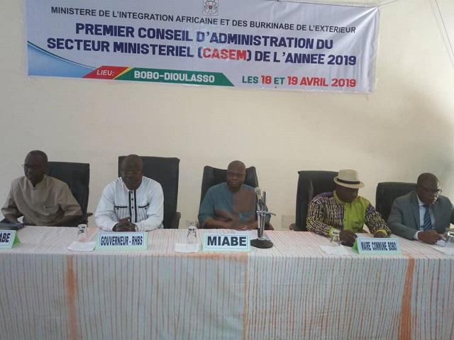 Bobo-Dioulasso: Le ministère de l'Intégration africaine et des Burkinabè de l'extérieur tient son premier CASEM de 2019