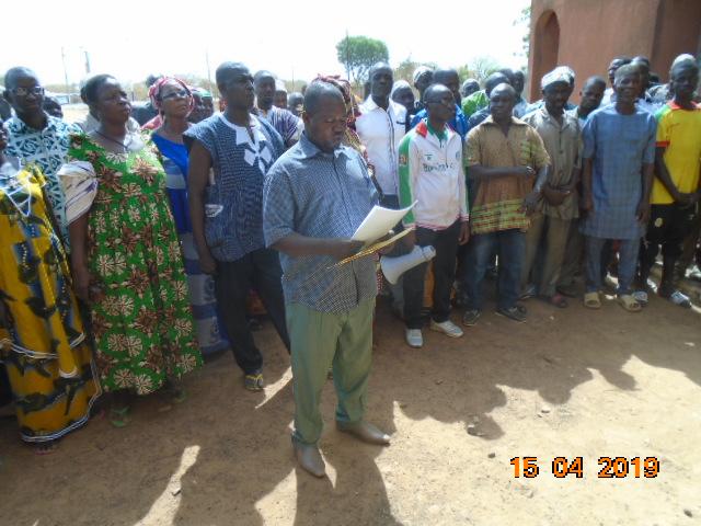 Union régionale des producteurs semenciers du centre sud (URPS/CS): Une marche de protestation contre Adama Ouédraogo, ancien président de l'URPS/CS.