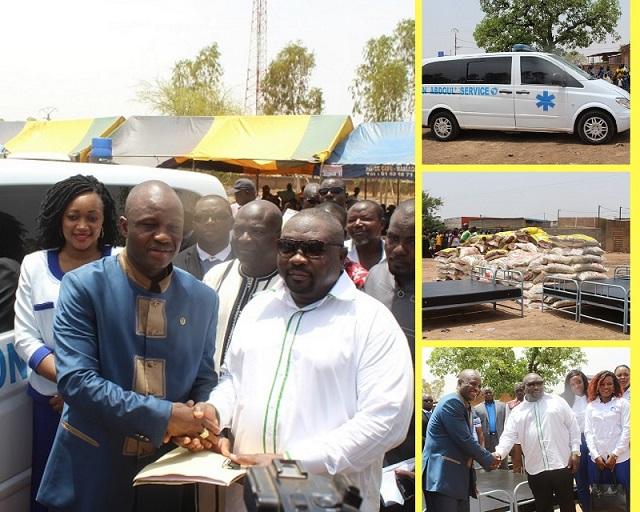 Arrondissement n°9 de Ouaga: Abdoul Services offre une ambulance et des vivres
