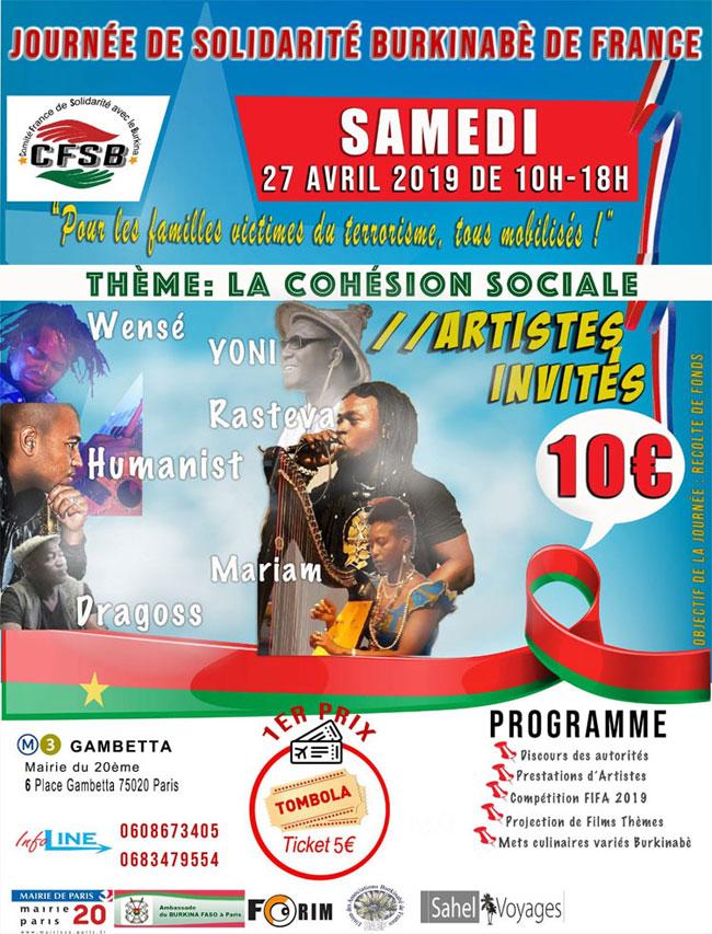 Burkinabè de France: Journée de solidarité avec les victimes du terrorisme au Burkina Faso