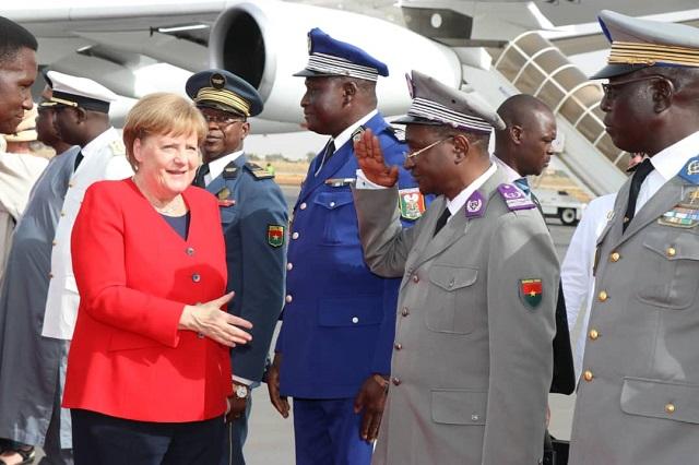 Coopération germano-burkinabè: Angela Merkel est à Ouagadougou